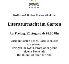 Netzwerk Literaturnacht im Garten