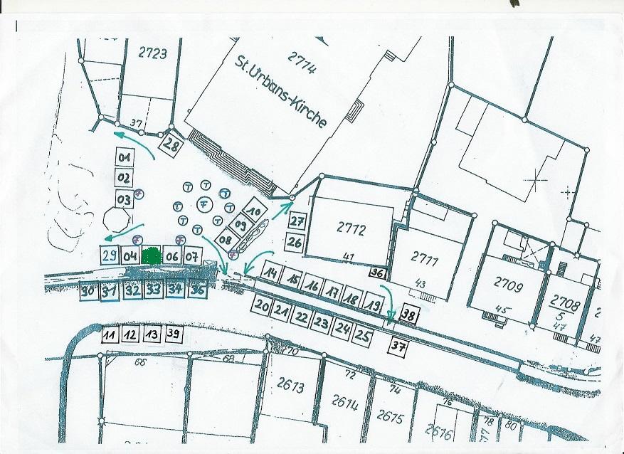 Lageplan der Stände