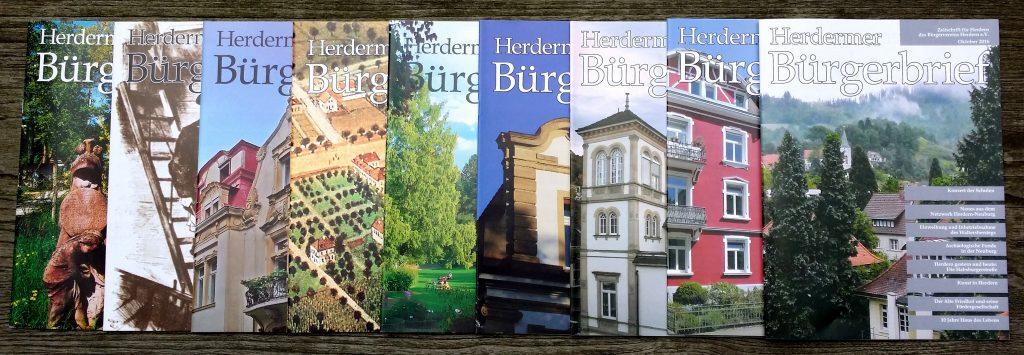 Ausgaben des Herdermer Bürgerbriefs 2012 bis 2016